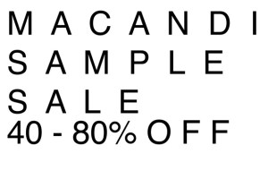 Macandi Sample Sale