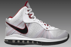 Nike Air Max LeBron 8 'V2′ (White/Red/Black)