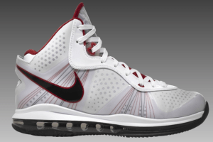Nike Air Max LeBron 8 'V2′ (White/Red/Black)