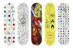 Damien Hirst x Supreme Signed Skateboard Decks