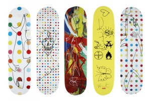 Damien Hirst x Supreme Signed Skateboard Decks