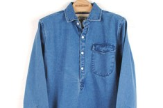 Eastie Empire Tailors Indian Denim Smock Shirt