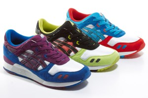 asics Gel Lyte III (Red/Blue, Lime/Black & Blue/Purple)