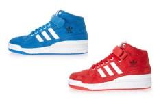 Adidas Forum Mid (Blue & Red)
