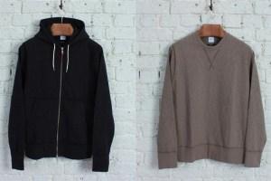 albam Garment Dyed hoody & crew