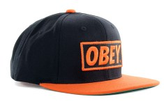 OBEY 'Original' Snapback (Black/Orange)