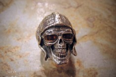 Crazy Pig Designs 'Aces High' Skull Ring