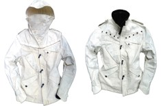 Denham Re-Cut Super White Nautilus Jacket
