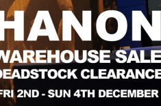 Hanon deadstock warehouse sale