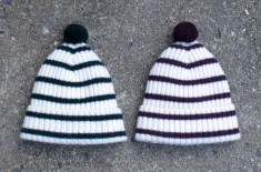 Mrs Wilberforce Stripe & Bobble Hats