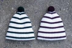 Mrs Wilberforce Stripe & Bobble Hats