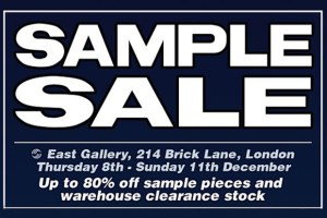 Winter streetwear sample sale listings