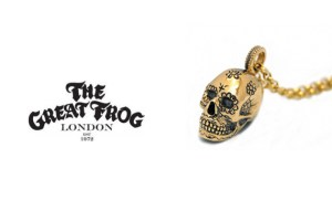 The Great Frog 9ct Gold Candy Skull Pendant