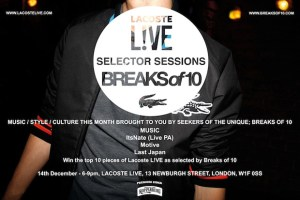 Lacoste L!VE Selector Sessions: BREAKSof10