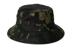 Barbour waxed camo bucket hat