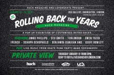 Huck Magazine & Lovenskate Present 'Rolling Back The Years'