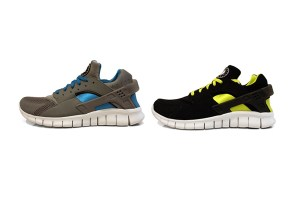 Nike Huarache Free (Grey/Blue & Black/Neon)
