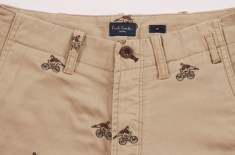 Paul Smith Jeans SS12 Cyclist Embroidered Shorts