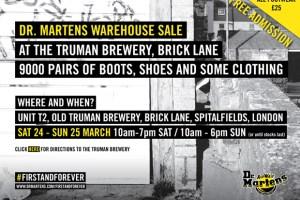 Dr. Martens Warehouse Sale (London)