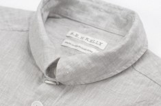 S.E.H Kelly Linen Kelly Collar Shirt