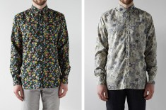 albam floral Club Collar Shirts