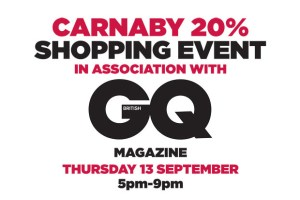 Carnaby 20% Shopping Night with GQ