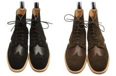 Oliver Spencer Brogue Boot (Black & Brown)