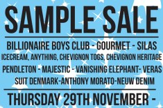 a number of names* sample sale at Truman Brewery