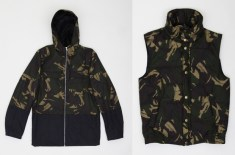 Hentsch Man Camo K-Way Jacket & Sleeveless Bomber