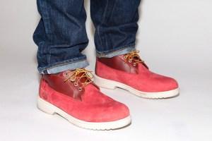 Supreme x Timberland Waterproof Chukka Boot (Red, Navy & Tan)