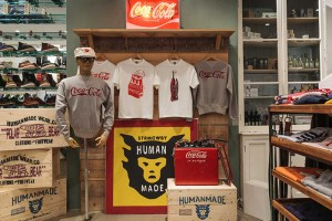Human Made x Coca-Cola display in Present