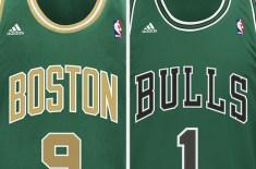 NBA St. Patrick's Day Jerseys (Celtics & Bulls)