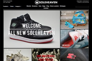 SoleHeaven launch new website (20% Discount Code)