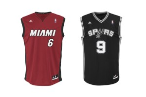 NBA Playoff Finals 2013 Heat & Spurs Jerseys