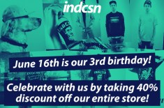 indcsn celebrates 3rd birthday with 40% discount