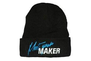 Makers LDN 'Meet Your MAKER' Beanie (Blue Stitch)