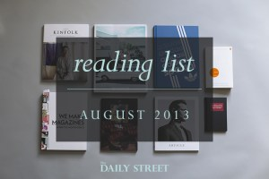 Reading List: August 2013