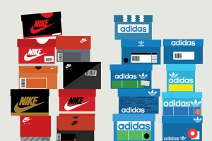 Sneaker box illustrations by Stephen Cheetham