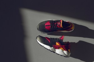 Nike Huarache LE 'Black/Fuchsia/Laser Orange' (size? Exclusive)