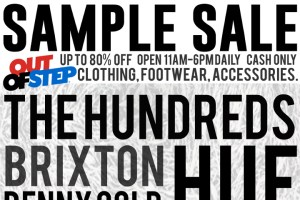 Out Of Step Streetwear Sample Sale