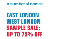 a number of names* London sample sales