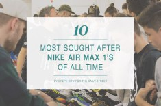 10 most sought after Air Max 1's of all time by Crepe City
