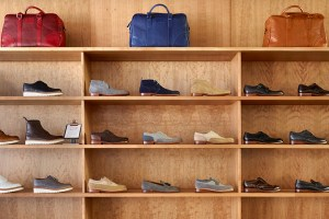 Inside the Grenson Bloomsbury store on Lambs Conduit Street