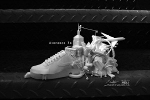 Air Force 3D sculpture by Damilola Odusote and Jon Fidler of Modla