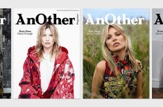 "Kate Moss ""Never Enough"" 4 covers for AnOther Magazine A/W14"