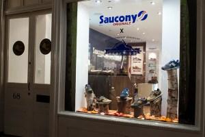 Inside the Saucony Originals x Penfield 60/40 pop-up store