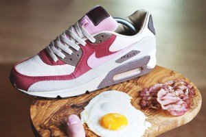 "DQM x Nike Air Max 90 ""Bacon"" shot by Brazum"