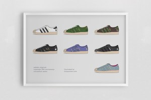 adidas Superstar 35th Consortium poster series by Kick Posters