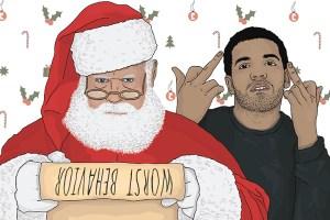 10 printable Drake Christmas cards