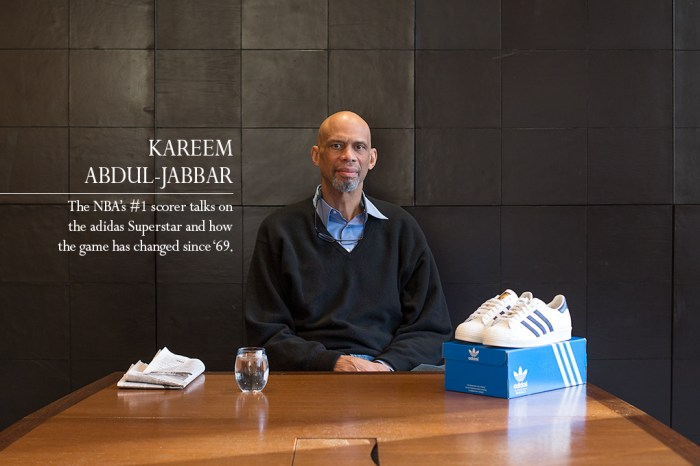 Interview: Kareem Abdul-Jabbar on the adidas Superstar and how basketball has changed